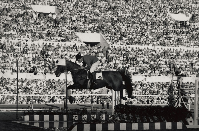 Legendary German Olympic Jumping athlete, Hans Günter Winkler with the great mare, Halla, who carried him to team and individual gold at the 1956 Olympic Games, in which the equestrian events were held in Stockholm, (SWE) has passed away aged 91. Photo by ©Alban Poudret/ Oscar Cornaz