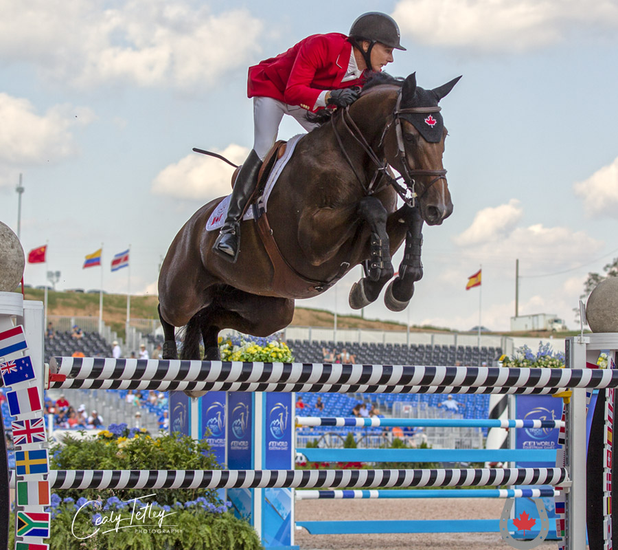 Mario Deslauriers capped off WEG 2018 on a high note as Canada's top performer in the Team Final aboard Bardolina 2.