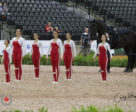 Team Canada is holding onto eighth place after the compulsory vaulting test at WEG. (L-r): Jaydee Fluet, Korynn Weber, Kate Thomas, Jessica Bentzen, Alexandra Ballance, Alisa Schmidt.