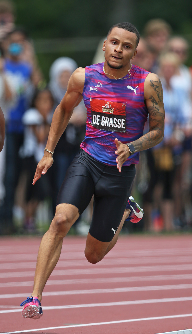 Thumbnail for Olympian Andre De Grasse to oversee Ricoh Woodbine Mile Draw