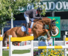 Eric Lamaze and Chacco Kid, owned by the Chacco Kid Group, won the $70,200 1.60m Akita Drilling Cup on opening day of the CSIO5* Spruce Meadows 'Masters' tournament in Calgary, AB. Photo by Starting Gate Communications