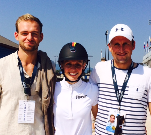 Germany's Laura Klaphake with her brother Felix (left) and boyfriend Patrick Döller.