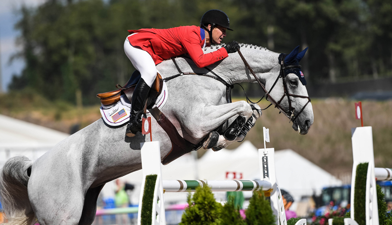 McLain Ward and Clinta picked up just a single time fault to help Team USA move into silver medal spot ahead of tomorrow's team medal-decider in the Bank of America Jumping Championship at the FEI World Equestrian Games™ 2018 in Tryon, USA.