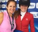 "Pam Young and Canadian Jumping Team member Kara Chad. ""Kara wasn't even born when I started in this business!"""