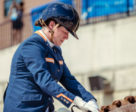 An emotional Sanne Voets (NED), the new individual world champion with mount Demantur N.O.P gave the Netherlands' a major push for gold today in the Grade IV competition at the Adequan© Para Dressage FEI World Equestrian Games™ Tryon. Photo by FEI/Christophe Taniere