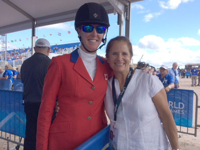 Pamela with Selena, Canada's top finisher with Foxwood High.