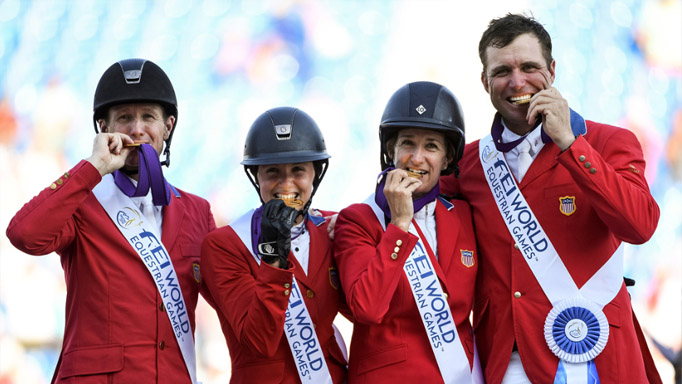 Thumbnail for USA wins Team Jumping title on home turf at WEG