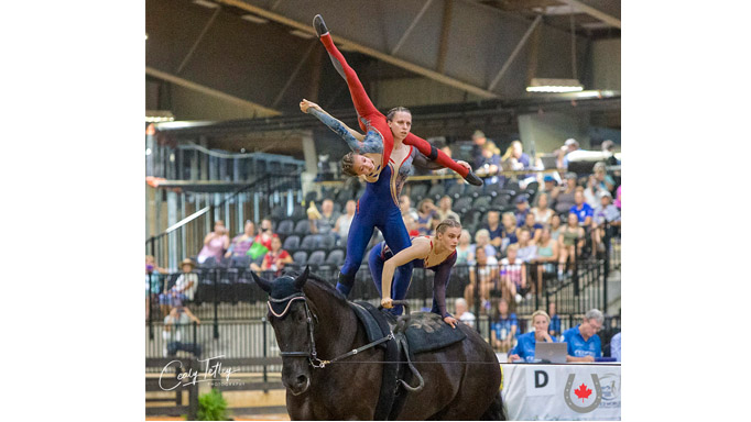 Thumbnail for Canadian Vaulting Team Finishes 10th at WEG