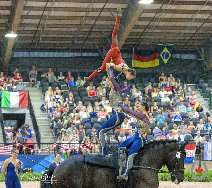 Canadian Vaulting Team Finishes 10th at WEG - Horse