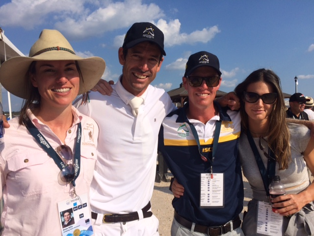 "The Aussies were ""over the moon "" at making the top 10. Pictured here with Rowan Willis is his sister Renee, left, chef d'équipe Todd Hind, and Rowan's partner Aline Domaingo."