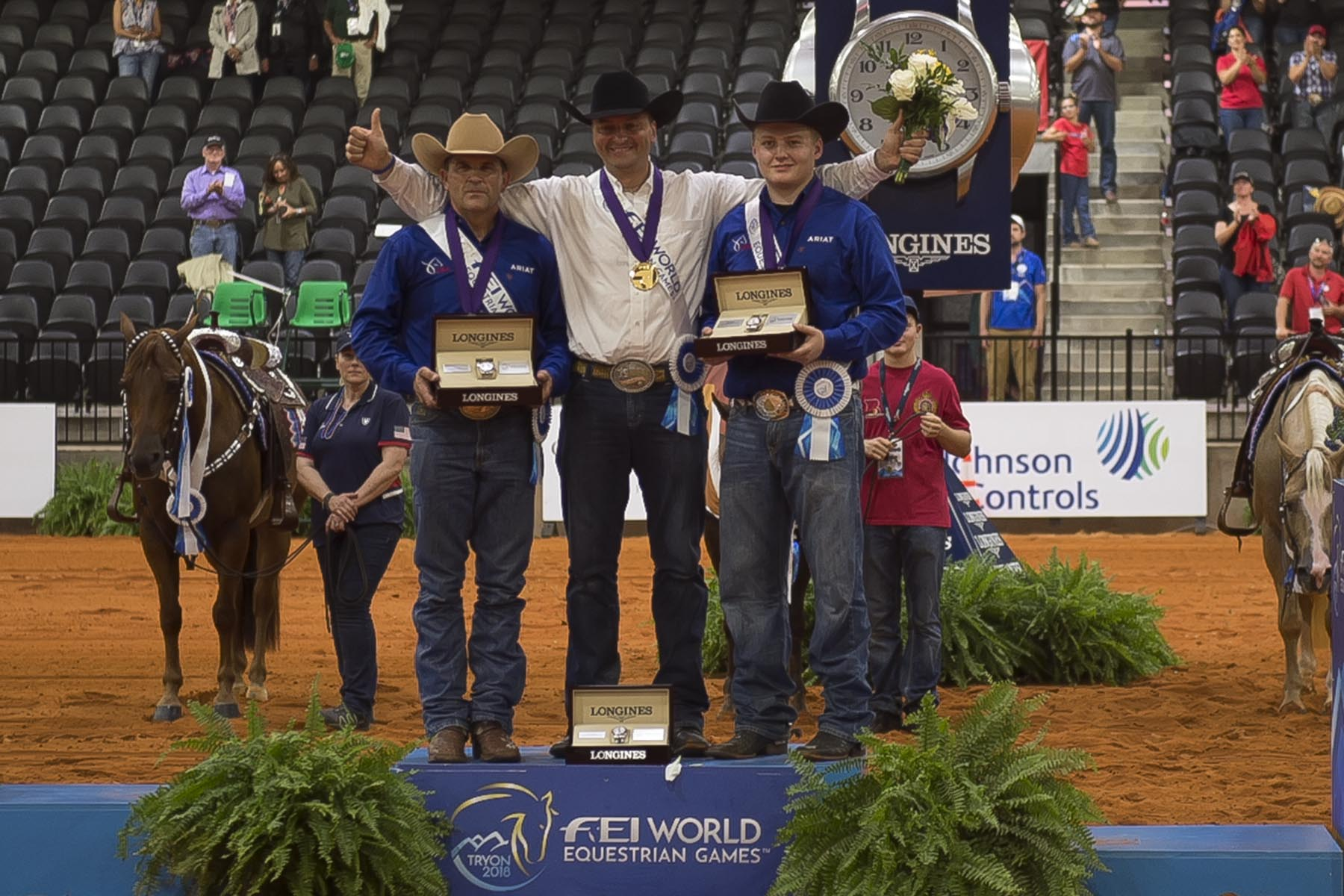 Thumbnail for www Reining Medals photo by Allen MacMillan AGM_7710