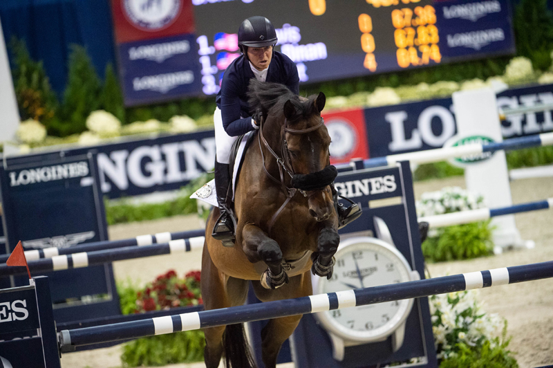 US Olympian Beezie Madden with her defending World Cup champion mount Breitling LS were the dominant force in the four horse jump-off to win the Longines FEI Jumping World Cup™ qualifier in Washington (USA) on Saturday 27 October 2018.