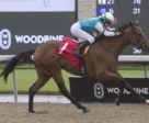 Captain Handsome and jockey Sheena Ryan winning on October 7 at Woodbine Racetrack.