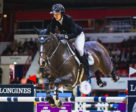 Belgium's Gudrun Patteet and Sea Coast Pebbles Z won the sizzling second leg of the Longines FEI Jumping World Cup™ 2018/2019 Western European League in Helsinki, Finland. Photo by FEI/Satu Pirinen