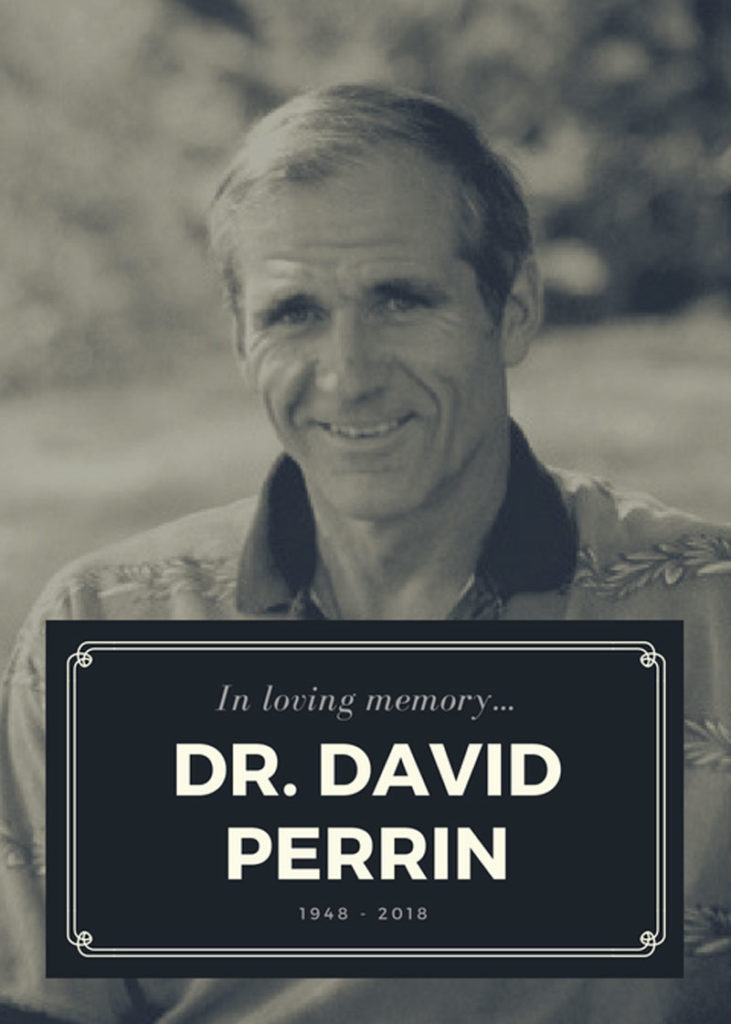 Beloved author Dr. Dave Perrin has died.