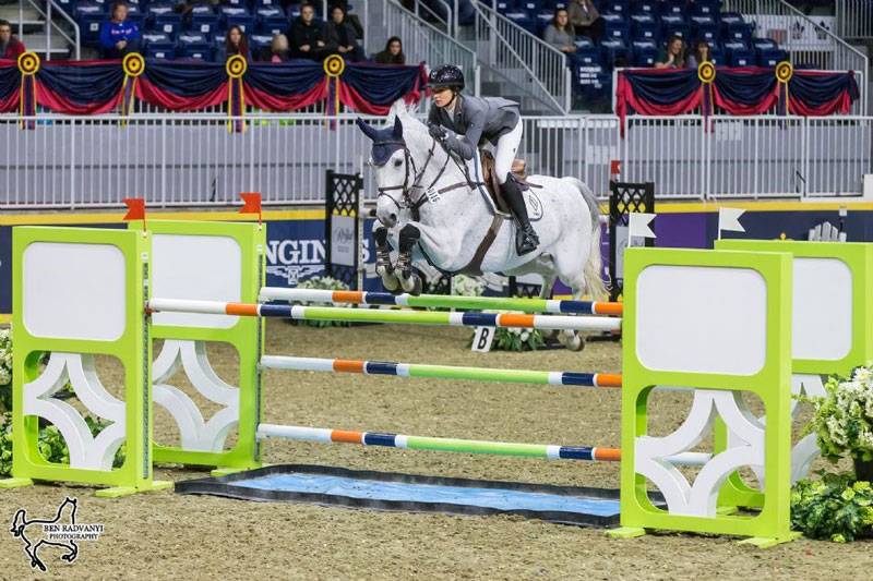 Catherine Tyree of the United States riding Bokai opened the Royal Horse Show's international show jumping division with a win in the $36,000 McKee Family International Challenge on Wednesday November 7, at the Royal Horse Show in Toronto, ON. Photo by Ben Radvanyi Photography