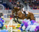 "Daniel Bluman had the crowd cheering as he won the $85,000 GroupBy ""Big Ben"" Challenge riding Ladriano Z on Thursday night, November 8, at the CSI4*-W Royal Horse Show in Toronto, ON. Photo by Ben Radvanyi Photography"