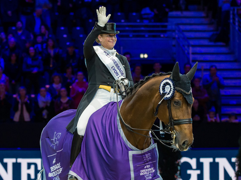 Defending series champion and equestrian sports legend, Germany's Isabell Werth, kicked off her FEI Dressage World Cup™ 2018/2019 campaign today with a convincing win with Emilio at the second leg of the Western European League series at Equita Longines in Lyon, France.