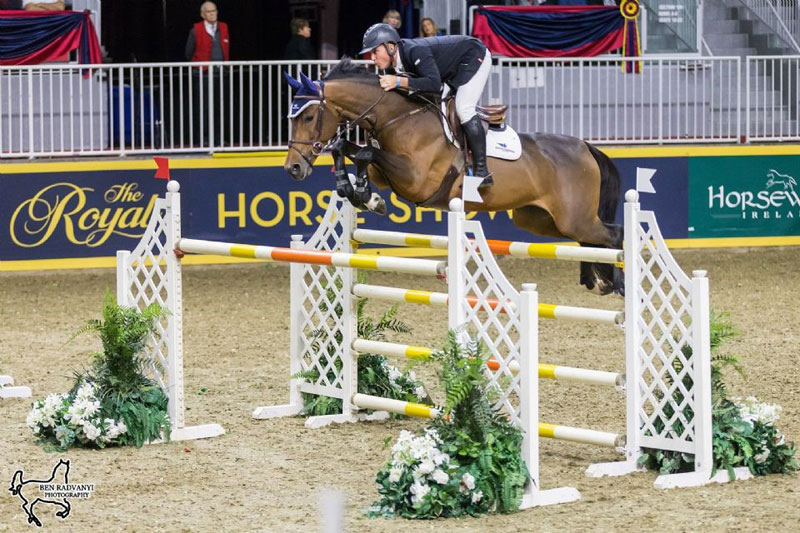 Keean White of Rockwood, ON, took second in the $36,000 Brickenden Trophy riding Tahiorn. Photo by Ben Radvanyi Photography