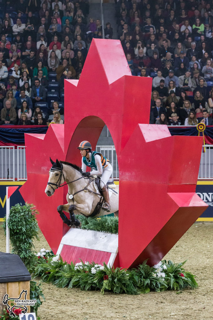 U.S. Olympian Lauren Kieffer won the $20,000 Horseware Indoor Eventing Challenge on Saturday, November 3, at the Royal Horse Show.