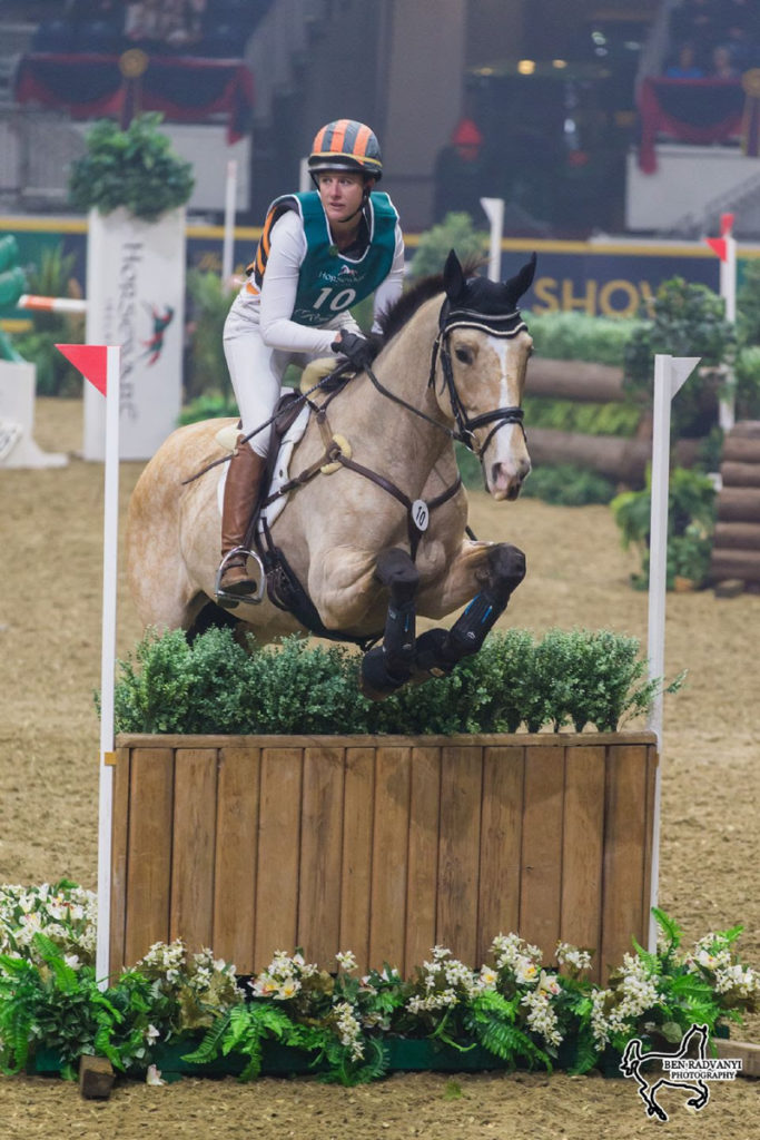 U.S. Olympian Lauren Kieffer made her Royal Horse Show debut a winning one, claiming victory in the opening phase of the $20,000 Horseware Indoor Eventing Challenge on Opening Night of the Royal Horse Show.