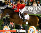 Mario Deslauriers (CAN) riding Bardolina 2 during the Challenge Cup of the Longines FEI Jumping Nations Cup Final in Barcelona.