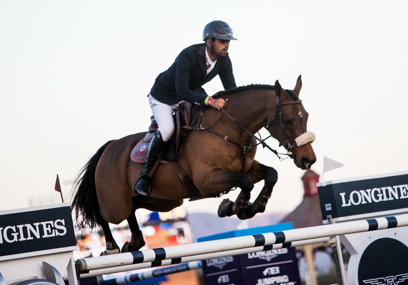 The shining stars of Thermal: Egypt's Nayel Nassar and Lordan secure a third overall victory in Thermal at the Longines FEI Jumping World Cup™ on Saturday 10 November 2018.