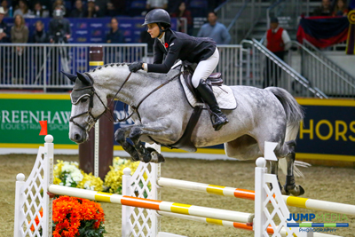 Veronica Bot will contest the 1.40m Junior/Amateur Championship and the Uplands Under 25 National Final at this year's Royal Horse Show riding Quidam's Caprice M. Photo by Jump Media