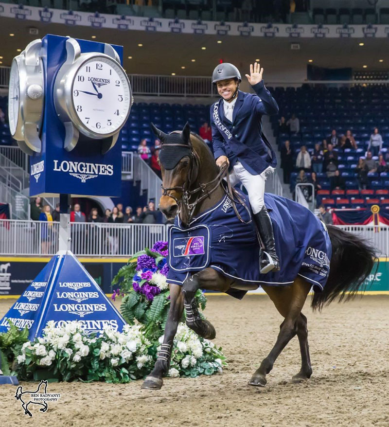 Kent Farrington of the United States, pictured aboard Voyeur, will defend his title in the $205,000 Longines FEI Jumping World Cup™ Toronto, presented by GroupBy, on Saturday night, November 10, the Royal Horse Show. Photo by Ben Radvanyi Photography