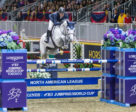 McLain Ward of the United States and HH Gigi's Girl claimed a stunning victory in the $205,000 Longines FEI Jumping World CupTM Toronto, presented by GroupBy, on Saturday night, November 10, to close out the Royal Horse Show in Toronto, ON.