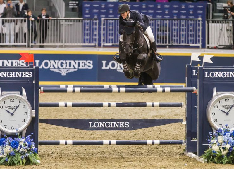 Two-time Olympic team gold medalist McLain Ward of the United States raced to victory in the $50,000 Weston Canadian Open on Friday night, November 9, at the CSI4*-W Royal Horse Show in Toronto, ON.