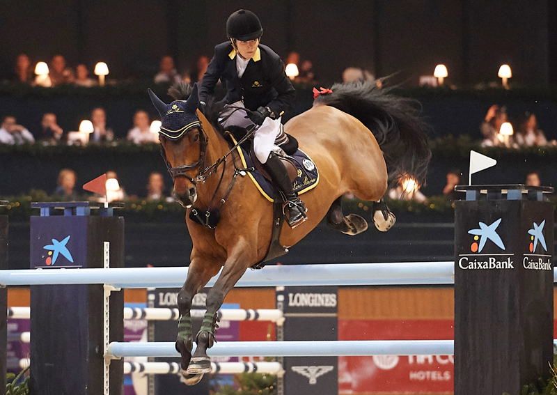 Australia's Edwina Tops-Alexander won the seventh leg of the Longines FEI Jumping World Cup™ 2018/2019 Western European League series in La Coruña, Spain, with the amazing nine-year-old, Vinchester. Photo by FEI/ Manuel Queimadelos/Oxer Sport