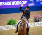 Germany's Frederic Wandres and Duke of Britain created a major sensation when reigning supreme in the sixth leg of the FEI Dressage World Cup™ 2018/2019 Western European League at the London International Horse Show in Olympia (GBR). Photo by FEI/Jon Stroud