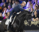"""""""That's my boy!"""" The Netherlands' Hans Peter Minderhoud congratulates his brilliant young stallion, the 10-year-old Glock's Dream Boy NOP, after the pair won the exciting seventh leg of the FEI Dressage World Cup™ 2018/2019 Western European League in Mechelen, Belgium."""