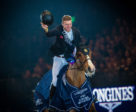 Great Britain's William Whitaker posted the biggest win of his career when galloping to victory with Utamaro d'Ecaussines in today's Longines FEI Jumping World Cup™ 2018/2019 Western European League qualifier at Olympia in London (GBR).