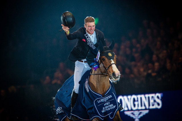 Thumbnail for William Whitaker reigns supreme in World Cup jump-off at Olympia