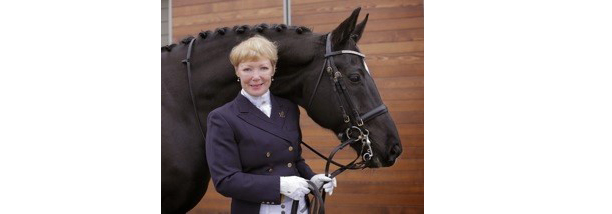 Wendy Christoff of Delta, BC has been named the November 2018 Dressage Volunteer of the Month for her hard work facilitating the Dressage Levy Performance Advantage Symposium, held Nov. 17-18, 2018, at the High Point Equestrian Centre in Langley, BC. Photo courtesy of Dressage BC