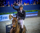 Sweden's Henrik von Eckermann celebrates his extraordinary victory with Toveks Mary Lou in today's twelfth leg of the Longines FEI Jumping World Cup™ 2018/2019 Western European League in Amsterdam (NED). Photo by FEI/Arnd Bronkhorst
