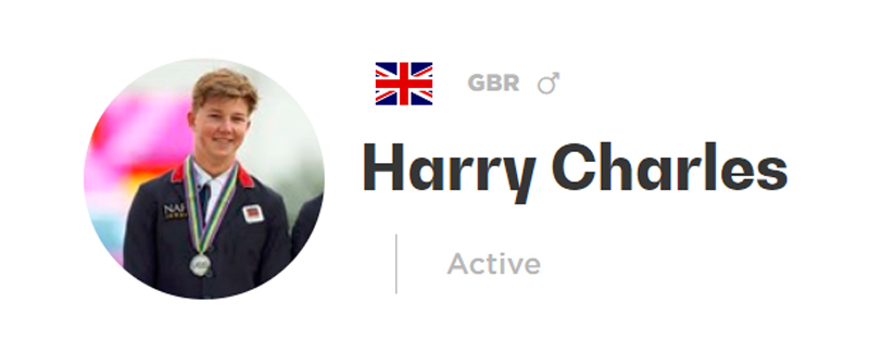 Harry Charles must forfeit his two 2018 European young riders gold medals, with Great Britain demoted to team silver.
