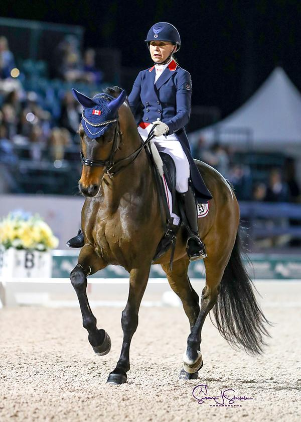 Jill Irving and Arthur won the FEI Grand Prix Special under the lights.