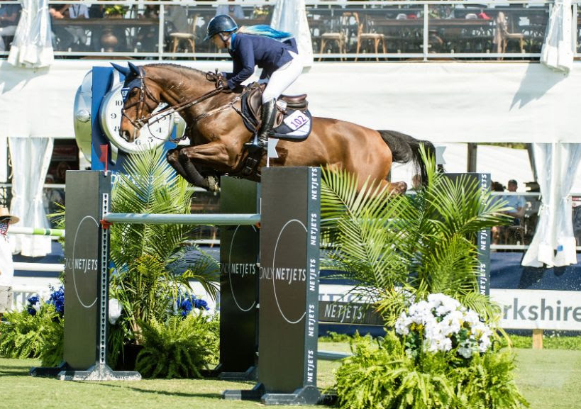 Ashlee Bond (ISR) won her second CSIO5* class of the week in topping the $72,000 NetJets Classic with Ereina.