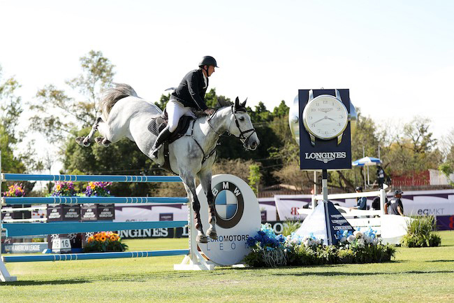 Jordan Coyle and Eristov topped the Longines FEI Jumping World Cup™ in Leon. Photo by FEI/Anwar Esquivel