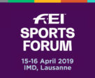 The 2019 FEI Sports Forum will take place April 15-16, 2019.