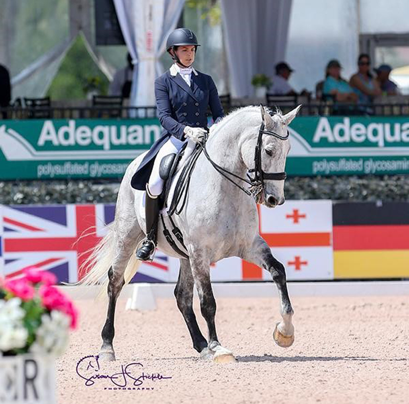Anna Marek won the FEI Intermediate I Freestyle CDI3* during week 10 of the Adequan® Global Dressage Festival. Photo ©SusanStickle.com