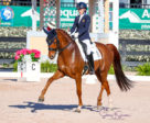Natalia Bacariza Danguillecourt won both the FEI Young Rider and FEI Junior Rider divisions in the Florida International Youth Dressage Championships.