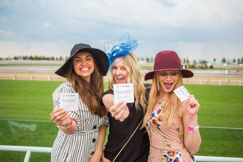 Guests enjoying the 2018 Derby Day Party at Woodbine Racetrack. Photo by Shane Parent