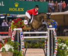 Nicole Walker of Aurora, ON, jumped double clear riding Falco van Spieveld in her Nations' Cup debut.