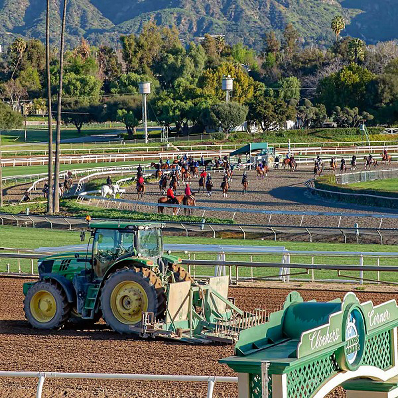 Last week the Santa Anita main track was closed for more analysis and the training track was flooded with horses. Vanessa Ng Photo