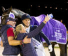 Celebrating with a selfie! Denmark's Daniel Bachmann Andersen pictured with his wife Tiril Bachmann Anerud and Robbie Sanderson after winning today's tenth and last leg of the FEI Dressage World Cup™ 2018/2019 Western European League at 's-Hertogenbosch (NED) with Blue Hors Zack.