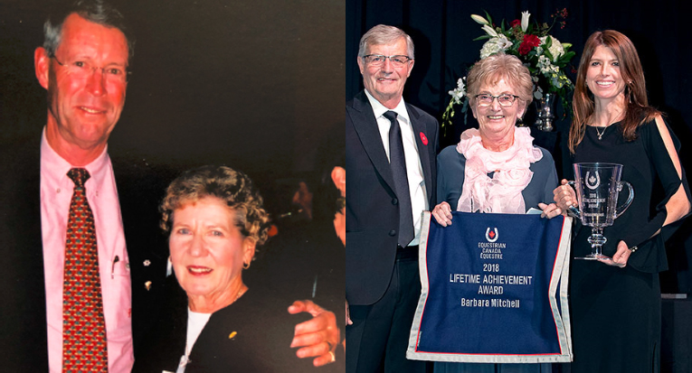 Harriet Cherry and Barbara Mitchell were both honoured with Equestrian Canada Lifetime Achievement Awards.